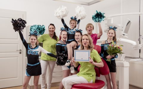 Anne Sauer Lisa Henze Heike Maresch UCX Cheerleader